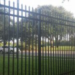 black aluminum fence installation in orlando